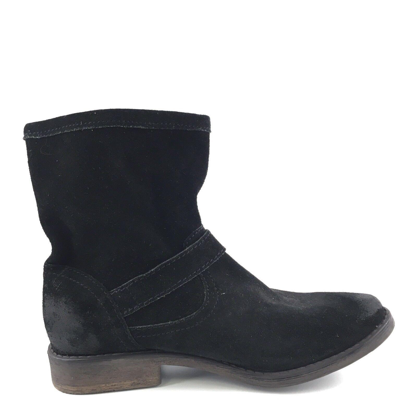 ZIGI Girl Corree Black Suede Buckle Buckle Buckle Ankle Boots Women's Size 7 M 278d01