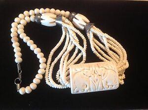 Unique vintage bone necklace