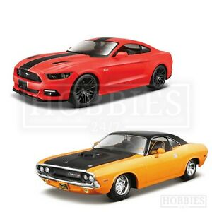 Maisto-1-24-Diecast-Muscle-Cars-Ford-Mustang-GT-1970-Dodge-Challenger-Models