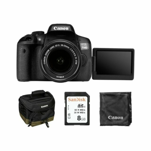Canon Eos Rebel T6i 24 2mp Digital Slr Camera Black
