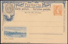 1894 - Gedenkganzsache - Postkarte - Ziffer - Helvetia - Zürich