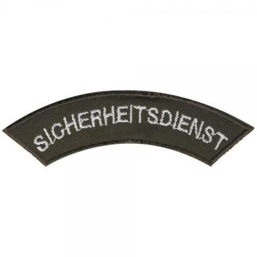 8 x 2 cm Patches Stick  ... SICHERHEITSDIENST AUFNÄHER Gr 06003 ca
