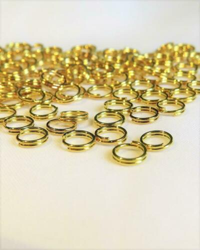 120 Gute Qualität Vergoldet Spaltringe F049 Ca 6mm