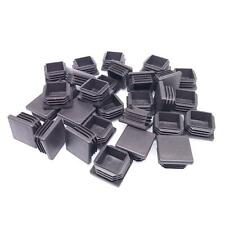 Square Plastic Black Blanking End Cap Tube Pipe Insert Plug Bung 10x10~100x100mm