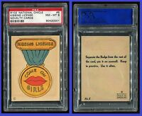 1930s R102 Novelty Cards #5 Kissing License PSA 8 NM-MT Cert #90420001