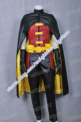 Young Justice Cosplay Robin Costume Jumpsuit Cape Outfit Halloween High Quality