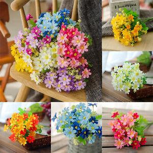 Silk-Fake-Artificial-Rose-Bouquet-Flowers-Floral-Leaf-Party-Home-Garden-Decors