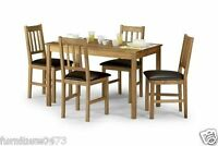 Solid Oak Dining Table & 4 Dining Chairs L118cm X W75cm X H75cm Moor