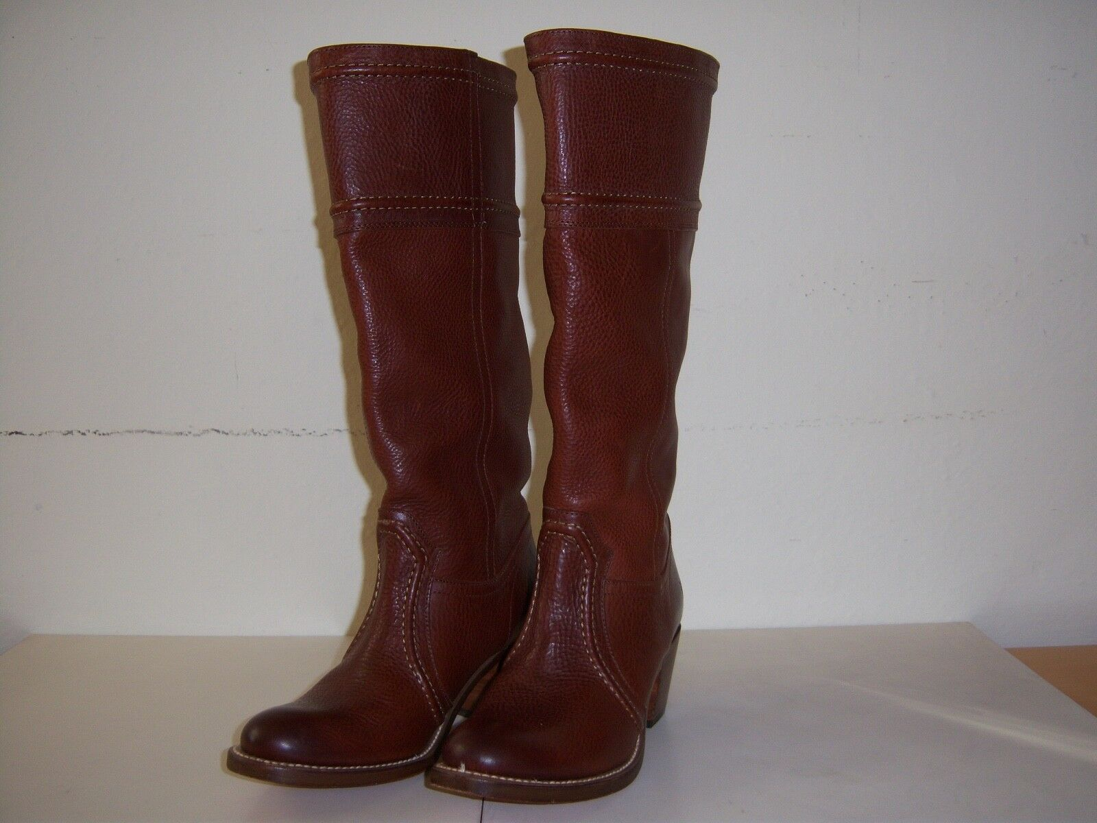 EUC Frye Brown Leather Boots Size 8.5 B Made in Mexico