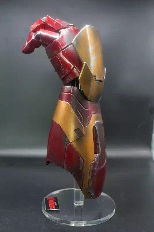 1 1 LED Armadura Mano Para Iron Man Mk Xlii 42 CosJugar De Mano Izquierda