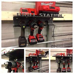 drill station up tp 4 drills batteries bits. Black Bedroom Furniture Sets. Home Design Ideas