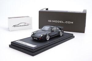 ig0940-ignition-Model-Porsche-911-Turbo-930-negro-BBS-llantas-1-43