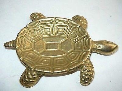 Posacenere da tasca in ottone lucido tartaruga
