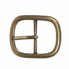 "Single Prong Round Circle Center Bar Belt Buckle 60 mm 2 3//8/"""
