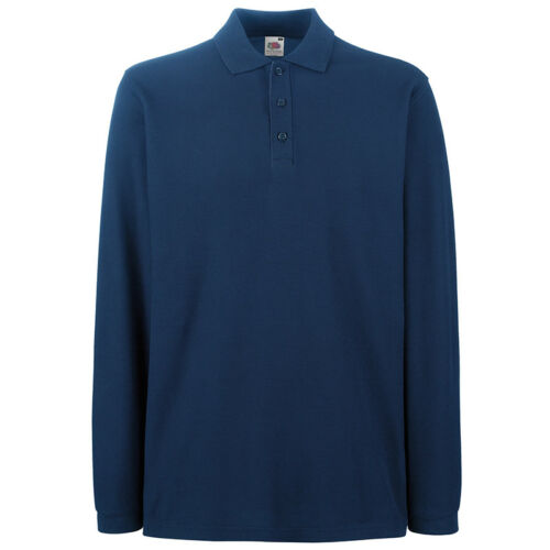 Fruit of the Loom MEN/'S POLO SHIRT LONG SLEEVE PREMIUM COTTON CASUAL S-3XL OFFER