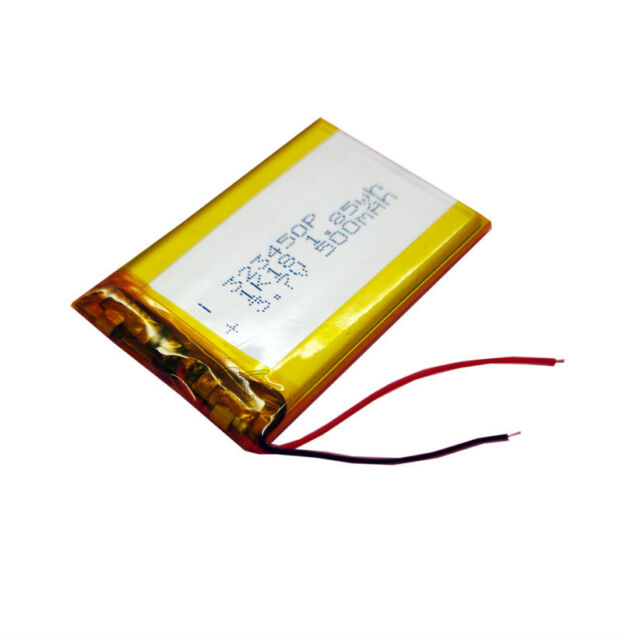 3.7V 500 mAh Rechargeable Polymer Lithium cell 323450 for bluetooth/mp4/reader