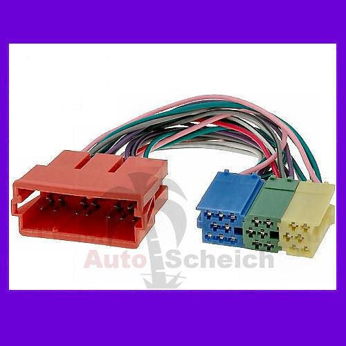 Mini ISO Adaptador Conector Radio cable para audi Concert Chorus MFD Navi aux plus