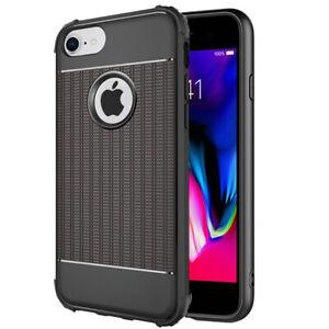 iPhone-7-8-Hoesje-Cube-Cover-Zwart-Premium-Shockproof-Case-Hybrid-Rugged