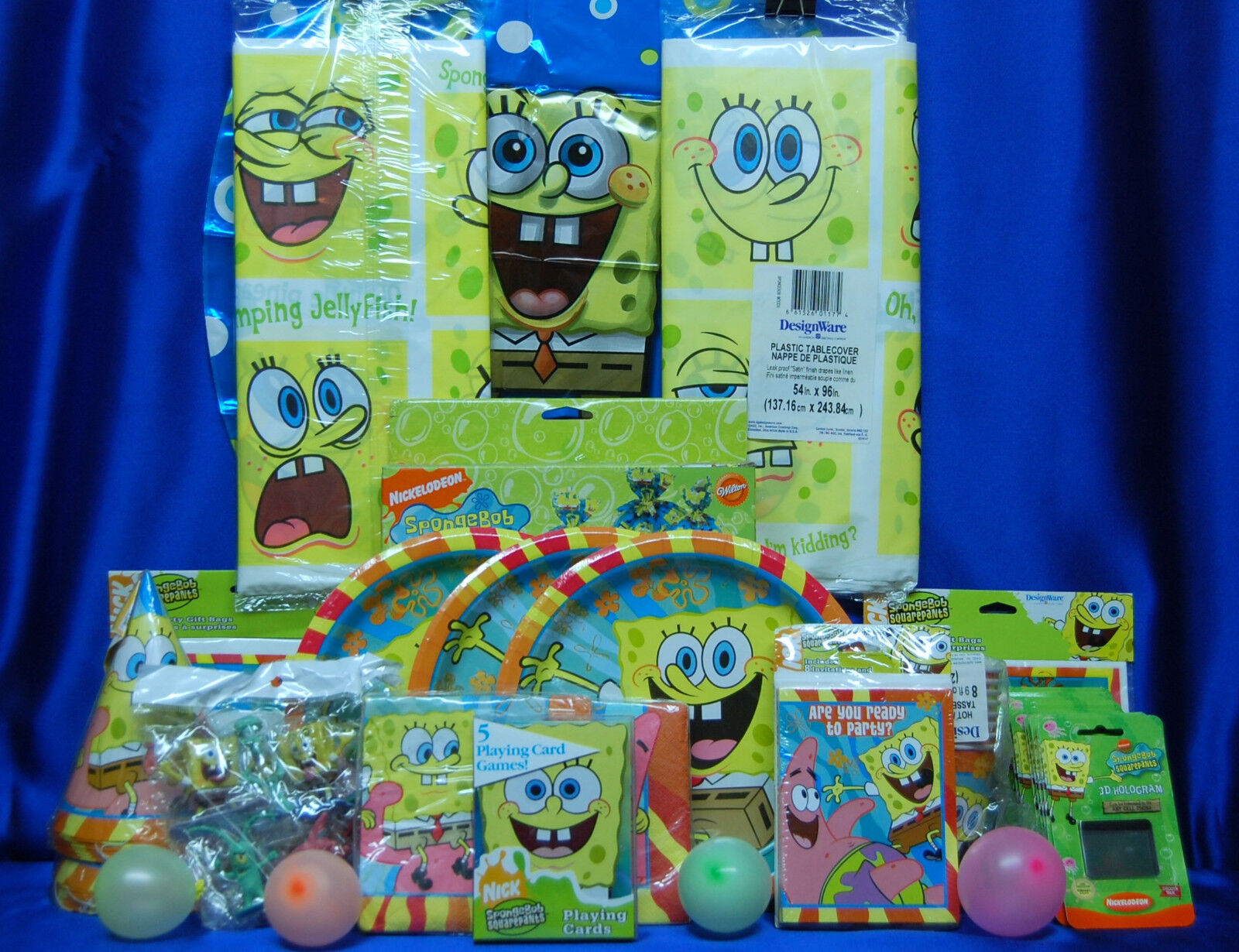 Sponge Bob Buddies Party Set   44 bonnets chapeaux plaques autocollants jeu invite +++