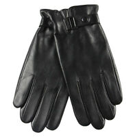 Mens Genuine Nappa Sheepskin Leather Lined Warm Gloves On Sale M013