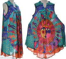 Tunique Femme Robe Ampe Grande taille 42 ↔️ 52 Vert PAREO DALI www.ZAZA2CATS.f