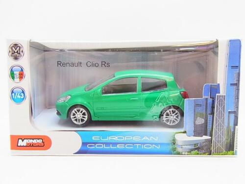 13245Mondo Motors TS1314 Renault Clio Rs 1:43 Die-Cast Modellauto NEU