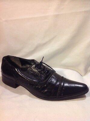 Analytisch Men's Laura Bailey's Black Leather Boots Size 40 Kleidung & Accessoires Herrenschuhe