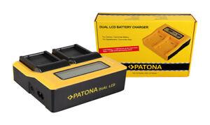 Caricabatteria rapido DUAL LCD Patona per Panasonic DMW-BLC12
