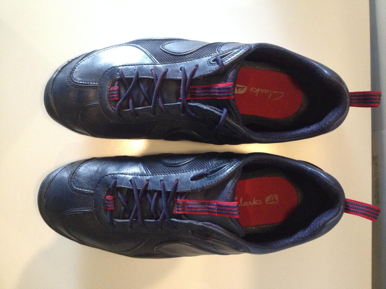 CLARKS scarpa casual e tempo libero in in morbida pelle e suola in libero gomma Mis 43 5933d0