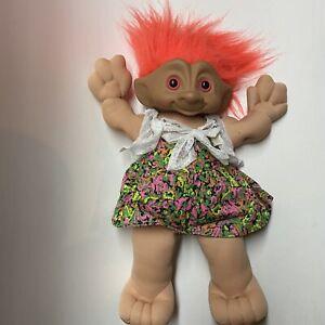 Ace Novelty Large TREASURE TROLL doll 13 pink hair cloth