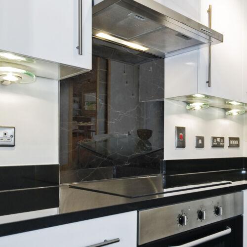 Splashback mudflap Rain Flap Coating Kitchen Background Black Pattern