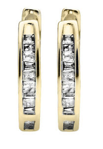 10K-Yellow-Gold-Invisible-Set-One-Row-Baguette-Cut-Diamond-Hoop-Earring-0-15ct