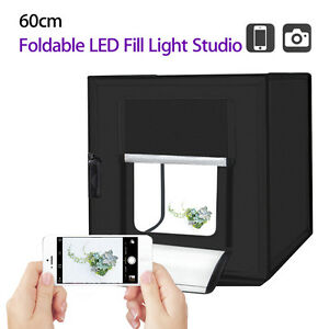 PULUZ 60cm Photography Cube Kit Light Tent Studio Foldable Indoor Outdoor 5500LM
