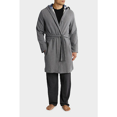 NEW Blaq Hooded Robe Grey