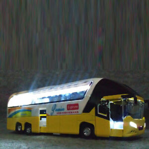1:32 Pull Back Cars Kids Toy Alloy Vehicles Mini Model City Express Double Buses