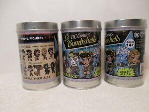 DC-Comics-Lil-039-Bombshells-Series-2-Vinyls-3-Factory-Sealed-Tins