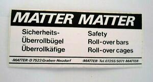 Bumper Stickers Matt Sicherheits-überrollbügel Roll Cage Tuning Motor Sports