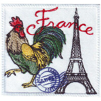 France Stamp Embroidered Patch