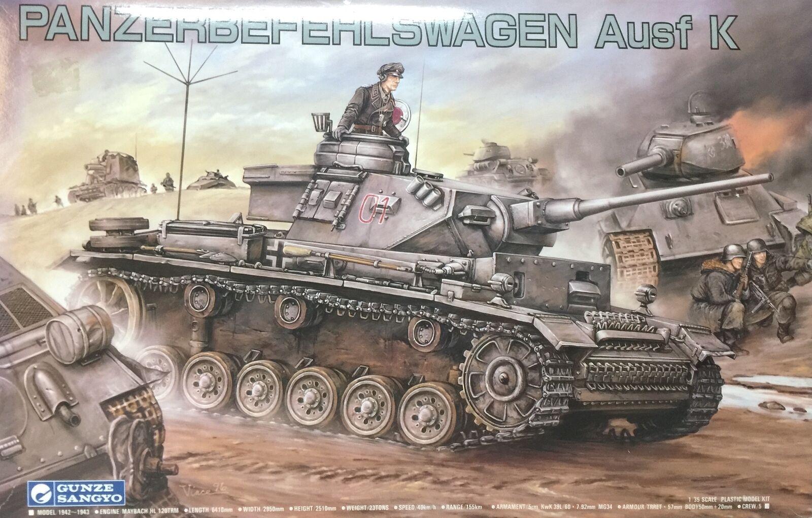 Gunze Sangyo Panzerbefehlswagen Ausf K Ref 772  Escala 1 35  magasiner en ligne aujourd'hui