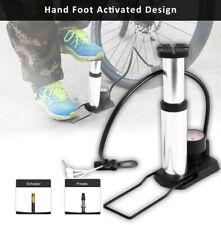 Air Pumper Foot Activated Floor Pump W// 140psi Gauge Mini Portable Bike Bicycle