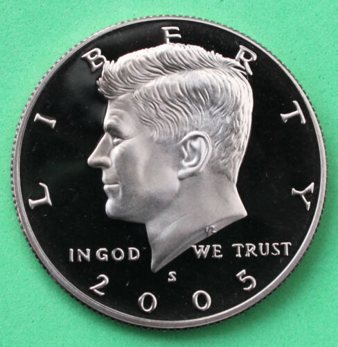 2005 S Proof Kennedy Half Dollar Coin 50 Cent JFK Taken from US Mint Proof Set