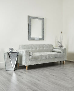 Image Is Loading Retro Design 3 Seater Sofa Settee Couch In
