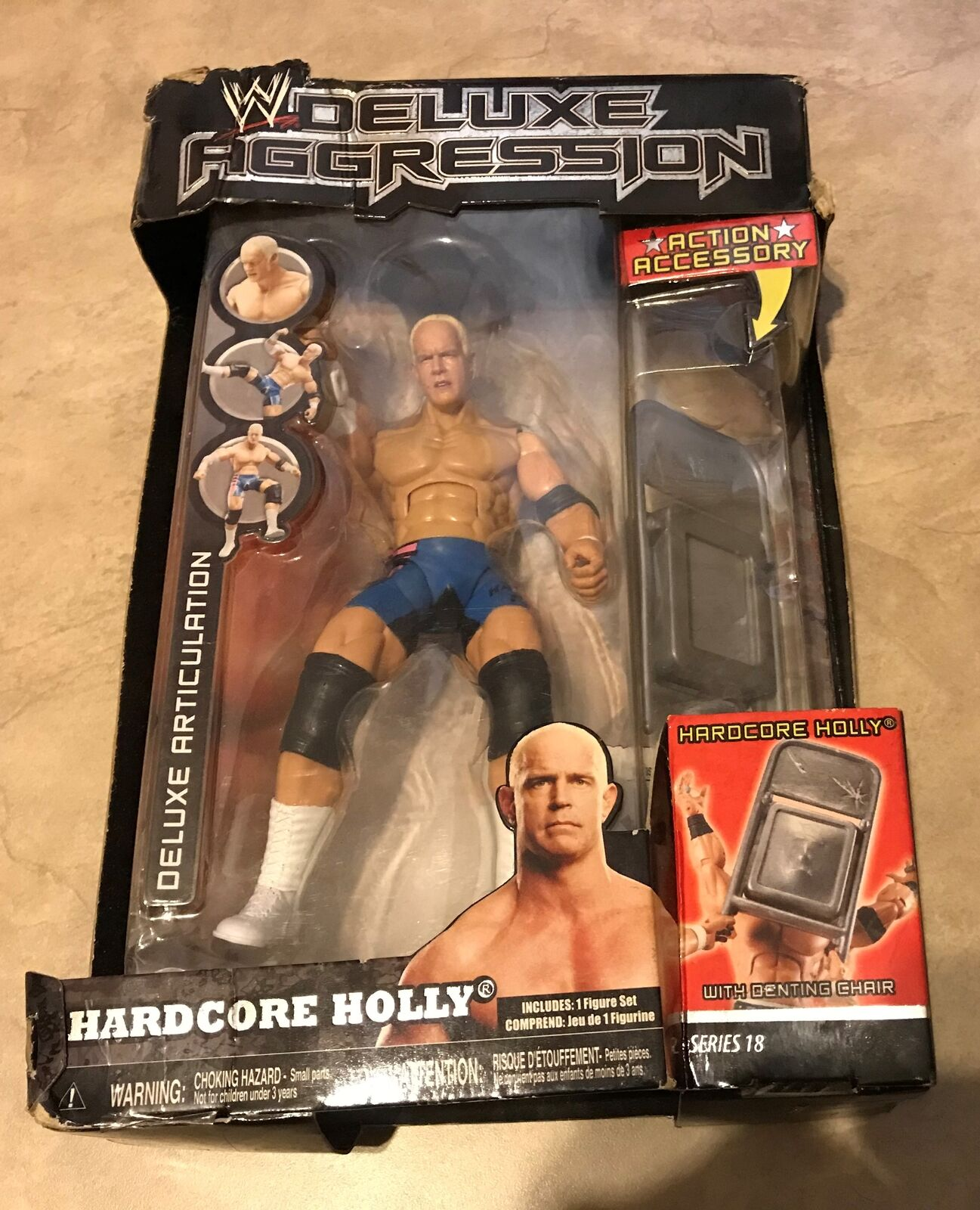 WWE Deluxe Aggression Hardcore Holly figure NEW in damaged box series 18