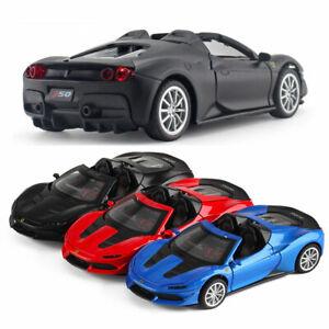 1-32-Ferrari-J50-Coche-Deportivo-Modelo-de-Coche-Vehiculo-de-juguete-Diecast-Regalo-Ninos-Tire-hacia