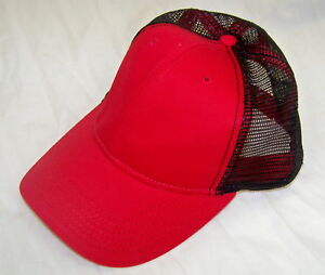 a61a7afcf NEW Sportsman Mens Mesh Back Baseball Cap Hat Red 02792 | eBay