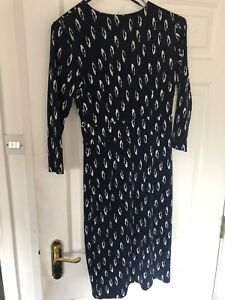 Austin Reed Womens Lycra Navy Blue Dress Size 6 Ebay