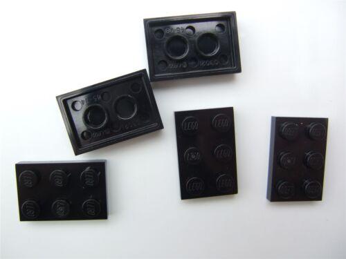 size 2x3 - 302126 5 x Lego Black  plate Parts /& Pieces