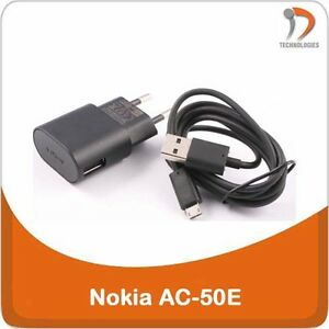 NOKIA-AC-50E-chargeur-charger-oplader-Lumia-505-510-520-610-620-625-Dual-SIM-530