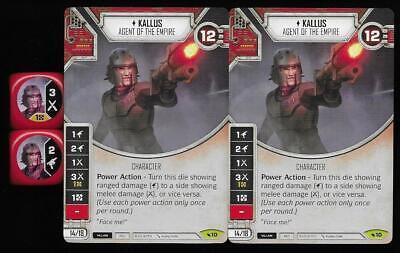 Stun Baton x2 Rare #74 Star Wars Destiny Legacies Card+Die