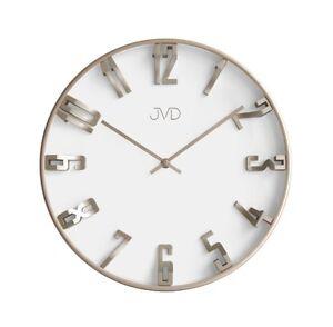 Runde Wanduhr Uhr Design Warmsilver Weiss Wohnzimmeruhr Gut Lesbar